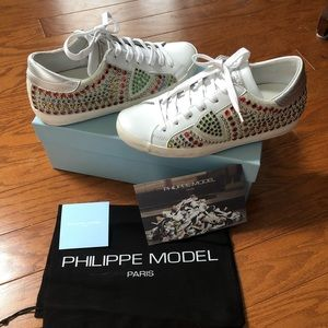 Philippe Model Paris Studded Sneakers Size 38 NEW